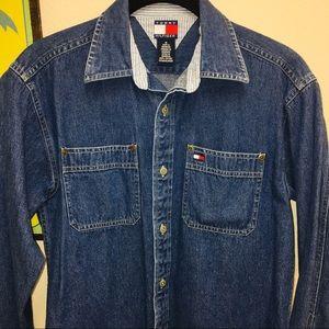 TOMMY HILFIGER Denim Shirt fits Junior XSm Youth M